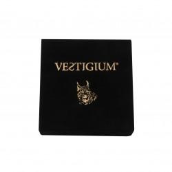 handmade luxury velvet box for bronze lynx paw