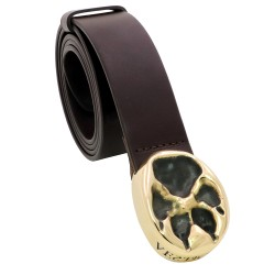 VESTIGIUM® wolf paw leather belt