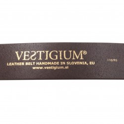 VESTIGIUM® leather belt detail inside - size stamp