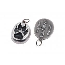 wolf metallic paw pendant