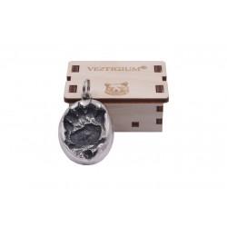 Bear metallic paw pendant
