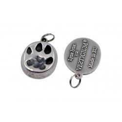 Lynx metallic paw pendant