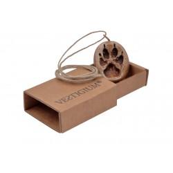Wolf ceramic paw pendant