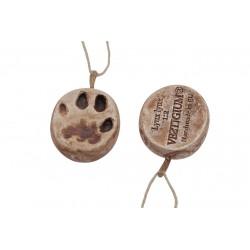 Lynx ceramic paw pendant